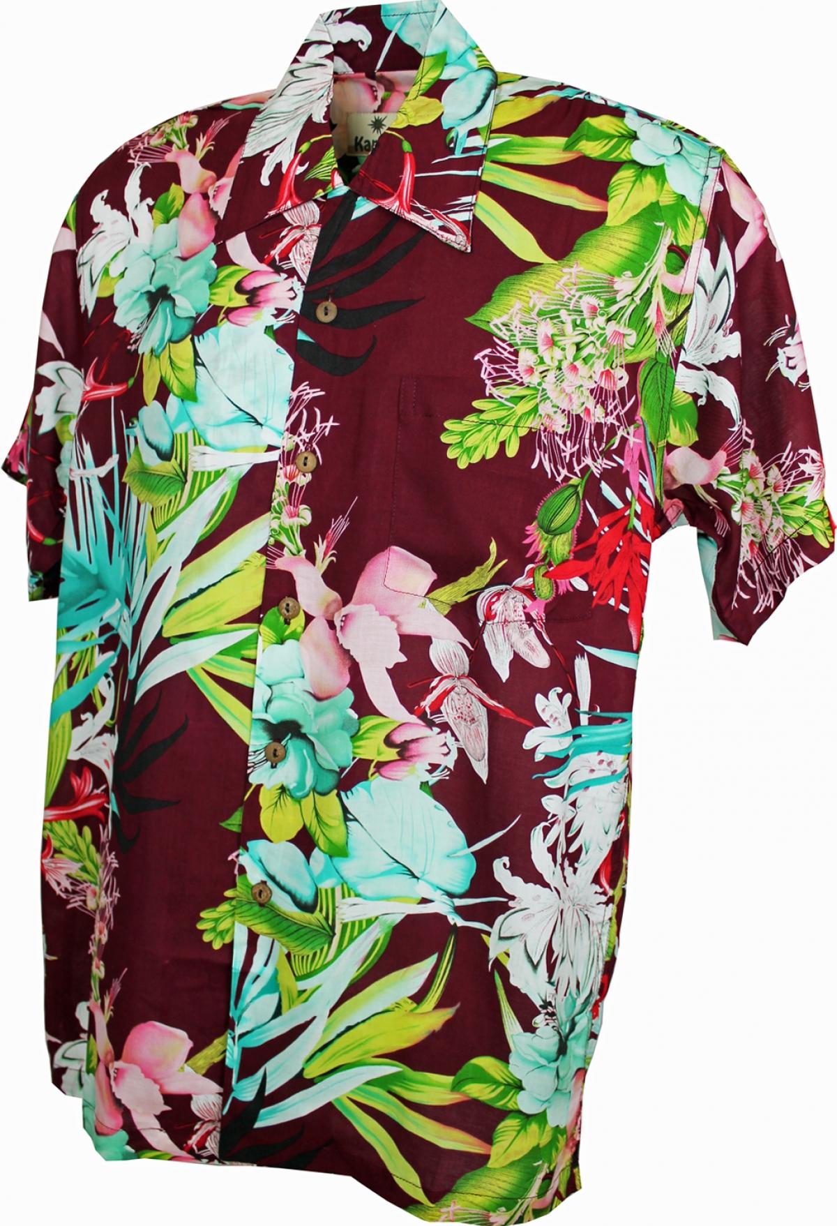 fc3b99fd7 Phuket Burgundy - Hawaiian Shirt