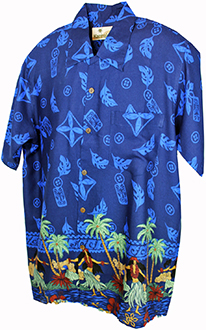 Hula Dancer Blue