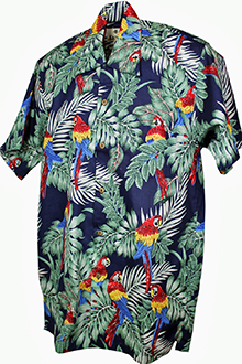 Parrots Cotton Blue