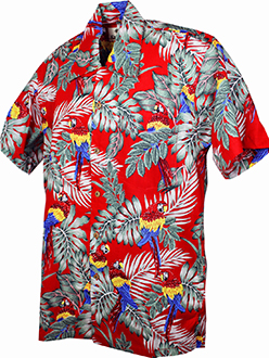 Parrots Cotton Red